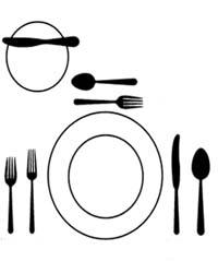 Como poner una mesa correctamente el rinc n de mayriel - Como se sirve en la mesa ...
