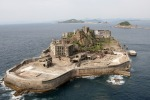 NAGASAKI, JAPAN - APRIL 22: (CHINA OUT, SOUTH KOREA OUT) Hashima, famous as the nickname 'Gunkan jima (The Warship Island)', is seen on April 22, 2009 in Nagasaki, Japan. The Island had been a coal complex and more than 5,000 people resided in 1960s, now uninhabited and only accept reserved visitors. (Photo by The Asahi Shimbun via Getty Images)
